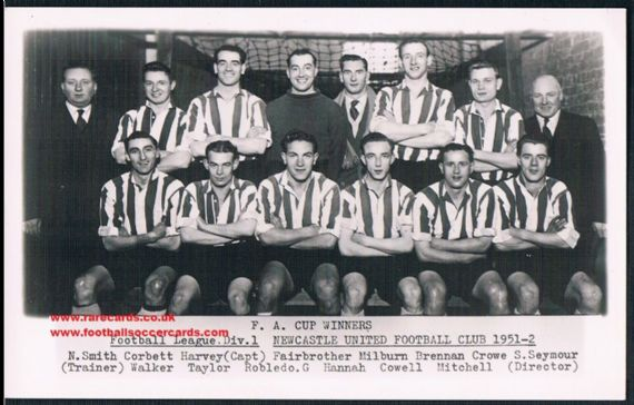 1952 F.A. Cup Newcastle Utd Wilkes